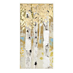 Golden Birch Trees I Canvas Art Print
