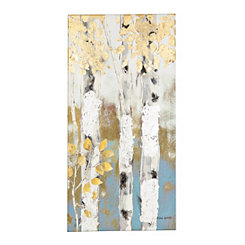 Golden Birch Trees II Canvas Art Print