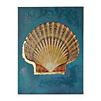 Shell on Indigo I Canvas Art Print