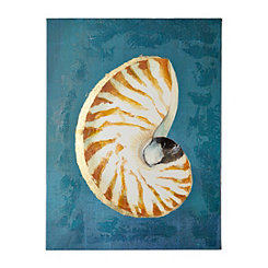 Shell on Indigo II Canvas Art Print