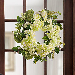 White Hydrangea Mix Wreath