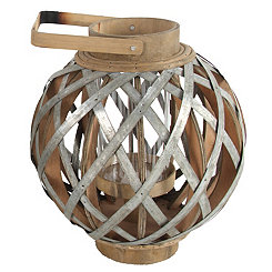 Wood and Metal Barrel Lantern