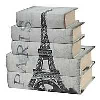 Paris Canvas Covered Nesting Boxes, Set of 5