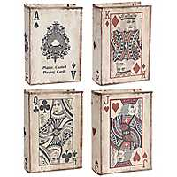 Game Card Canvas Covered Nesting Boxes, Set of 4