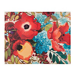 Color Party Floral Outdoor Canvas Art Print
