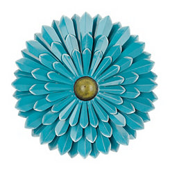 Blue Flower Metal Wall Plaque, 20 in.