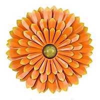 Orange Flower Metal Wall Plaque, 20 in.