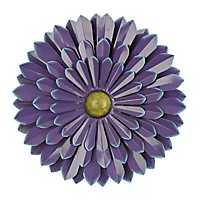 Purple Flower Metal Wall Plaque, 20 in.