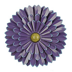 Purple Flower Metal Wall Plaque, 20 in.