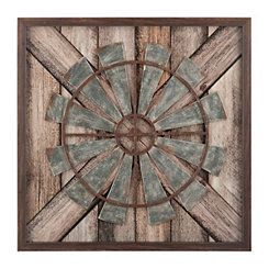 Rustic Windmill Shadowbox