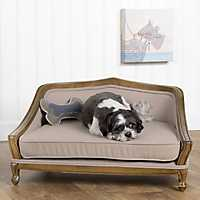 Queen Anne Wood Frame Pet Bed