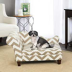 Heather Chevron Chaise Pet Bed