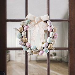 Golden Glitter Eggs Wreath
