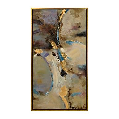 metallic treasure framed canvas art print