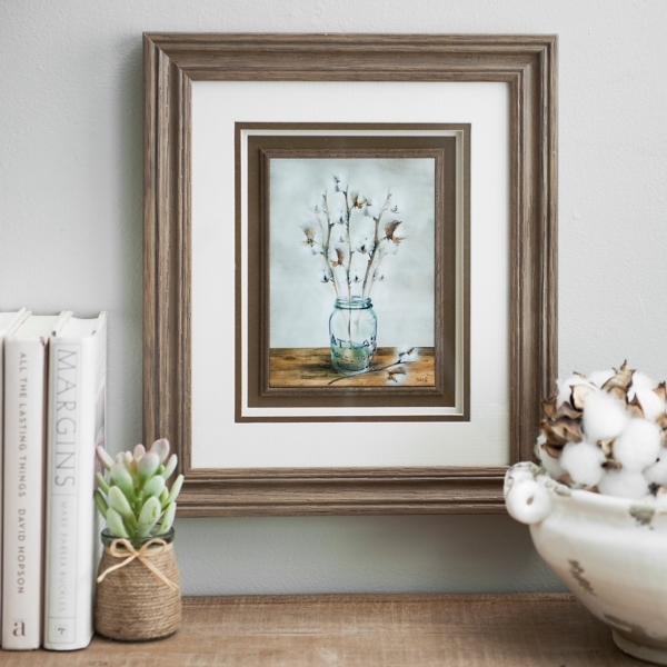 Cotton Blossoms Framed Art Print