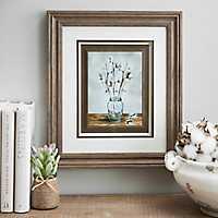 Cotton Blossoms Framed Art Print