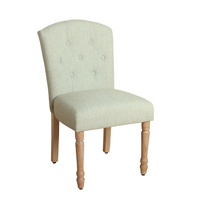 White Delilah Tufted Dining Chair