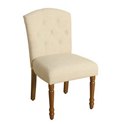 Ivory Delilah Tufted Dining Chair