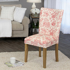 Red Floral Parsons Chair