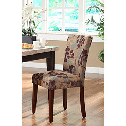Brown and Tan Sage Leaf Parsons Chair