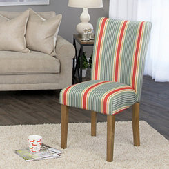 Multicolor Stripes Parson Chair