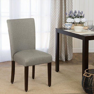 Gray Dining Parsons Chair