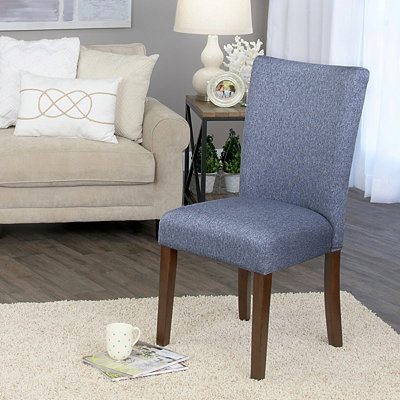 Denim Blue Dining Parsons Chair