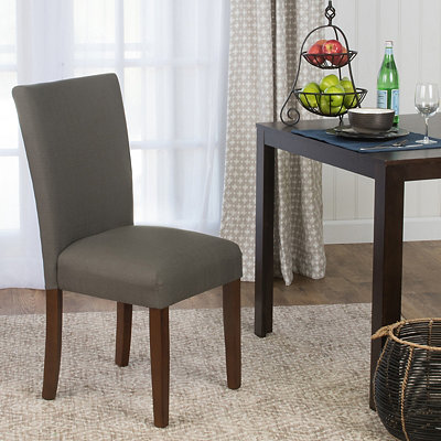 Warm Gray Dining Parsons Chair