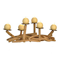 Driftwood Pillar Candle Runner