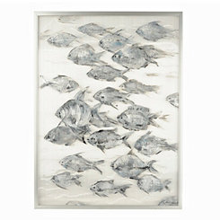 Many Fish in the Sea Framed Art Print