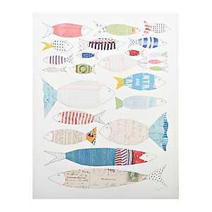 Big Fish Little Fish Canvas Art Print