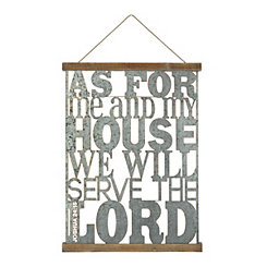 As For Me & My House Wall Plaque