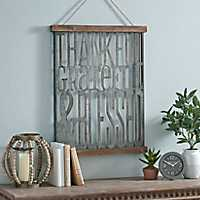 Thankful Grateful Blessed Wall Plaque