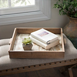 Distressed Whitewashed Decorative Tray
