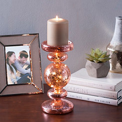 Pre-Lit Rose Gold Candle Holder