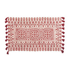 Nina Red Medallion Scatter Rug
