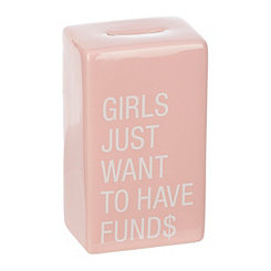 Girls Just Want To Have Funds Coin Bank