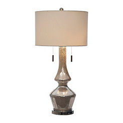Shelby Double Mercury Glass Table Lamp
