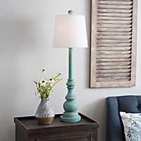 Turquoise Blayne Buffet Lamp