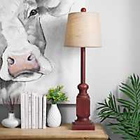 Red Blayne Buffet Lamp