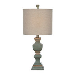 Cambridge Blue Germantown Table Lamp