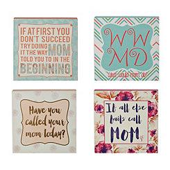 Funny Mom Word Blocks