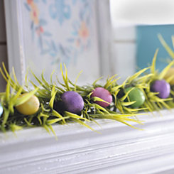 Easter Glitter Eggs and Grass Garland