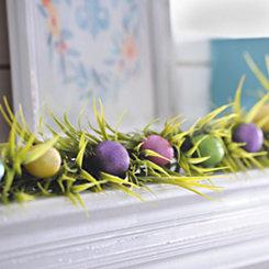 Easter Glitter Eggs and Grass Garland