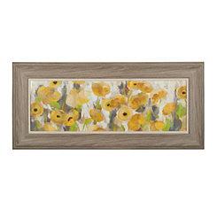 Sunny Days Floral Framed Art Print