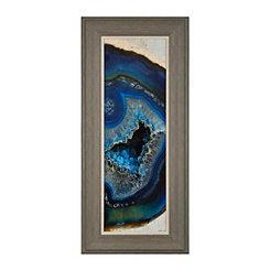 Turquoise Druse Framed Art Print