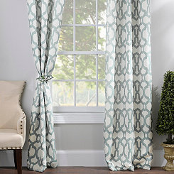 Aquifier Blue Teemu Curtain Panel Set, 108 in.