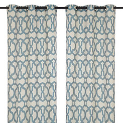 Teal Teemu Curtain Panel Set, 108 in.