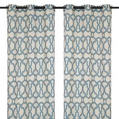 Teal Teemu Curtain Panel Set, 108 in.