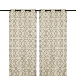 Taupe Teemu Curtain Panel Set, 108 in.